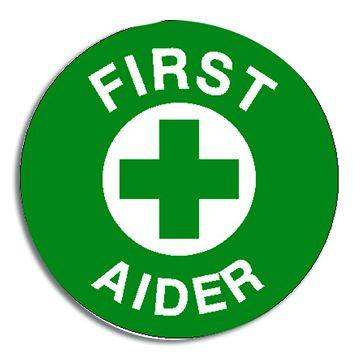 First Aider Sticker 5cm diameter